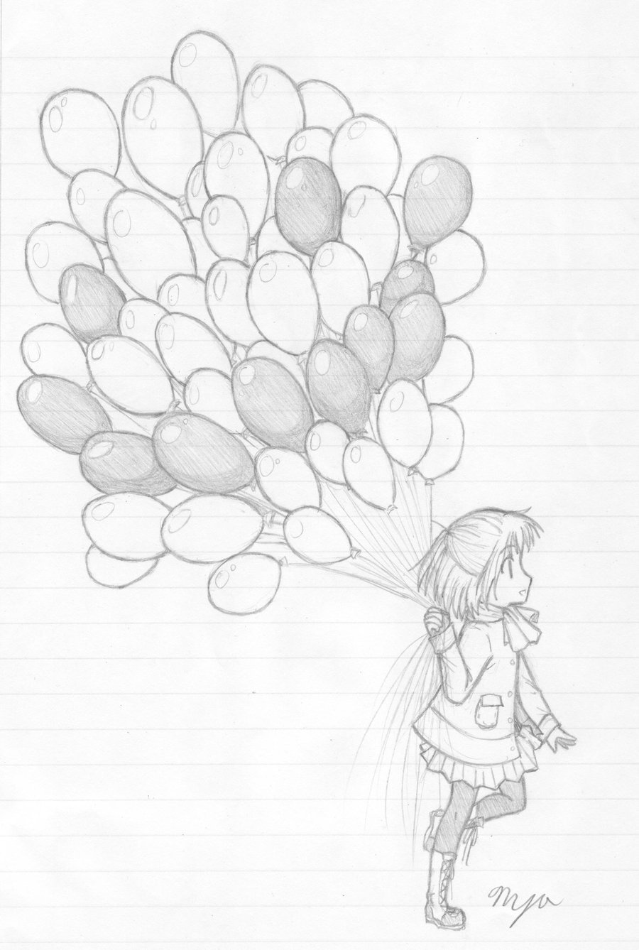 900x1338 Illustration Of A Balloon Sketch On A White Background Stock