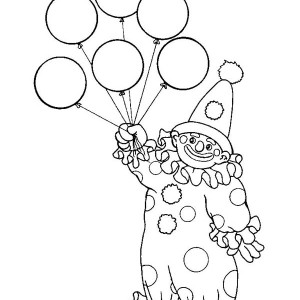 300x300 Balloons Coloring Page Free Download