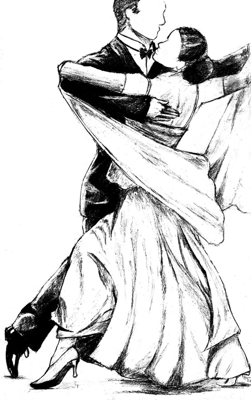 800x1273 Pencil Sketches Of Couples Dancing Drawn Dancer Ballroom Dance