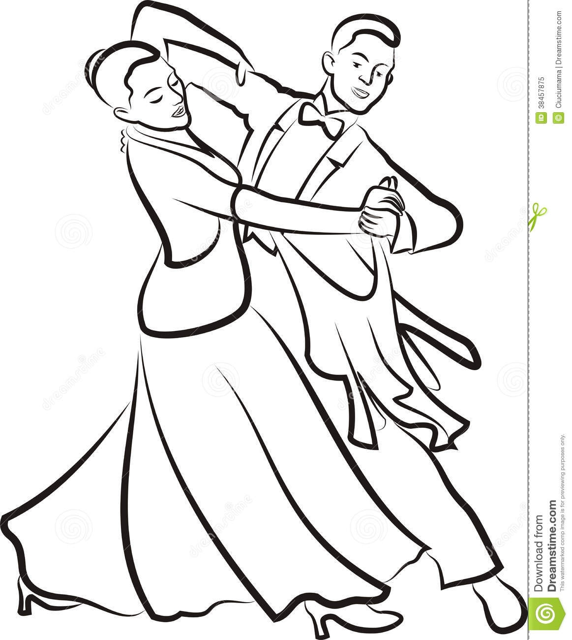 Ballroom Dancing Drawing