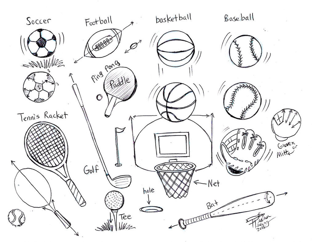 1013x788 Draw Sports Balls By Diana Huang