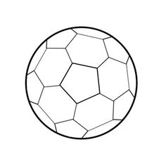 236x236 Draw A Soccer Ball Soccer Ball And Craft