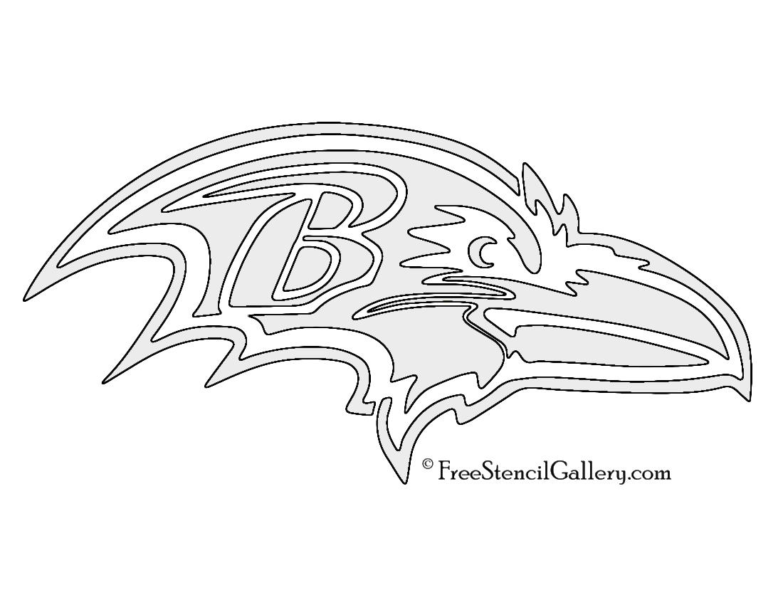 1100x850 Nfl Baltimore Ravens Stencil Free Stencil Gallery