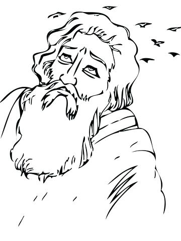 360x480 Ravens Coloring Pages Bible Coloring Pages Fed By Ravens Coloring