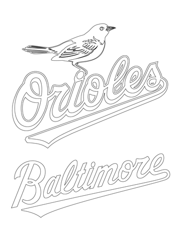 360x480 Baltimore Orioles Coloring Pages