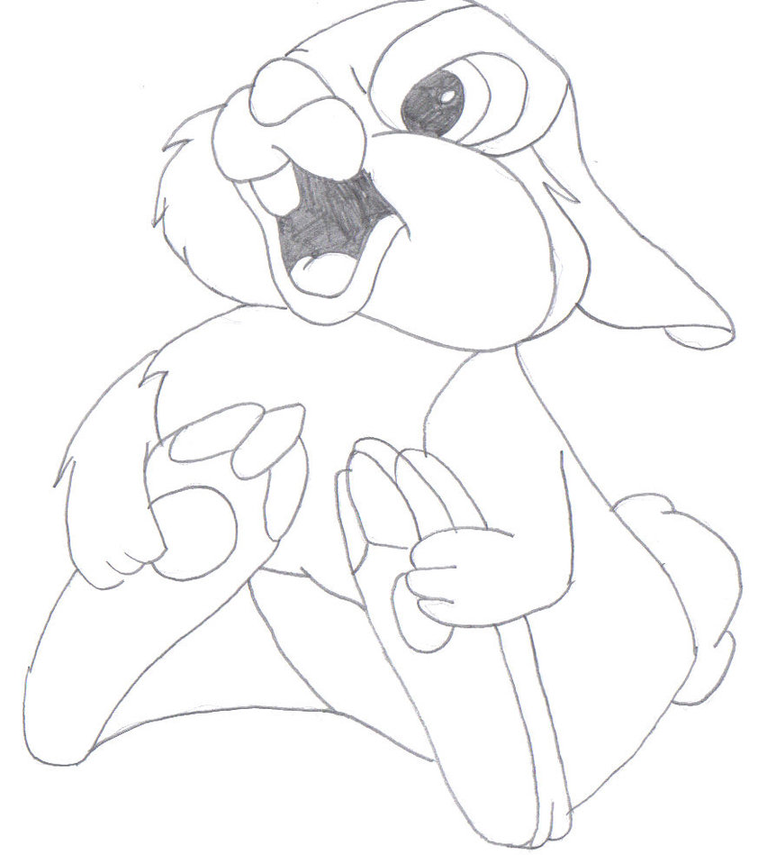 842x949 Thumper Coloring Pages For Girls Thumper Coloring Pages