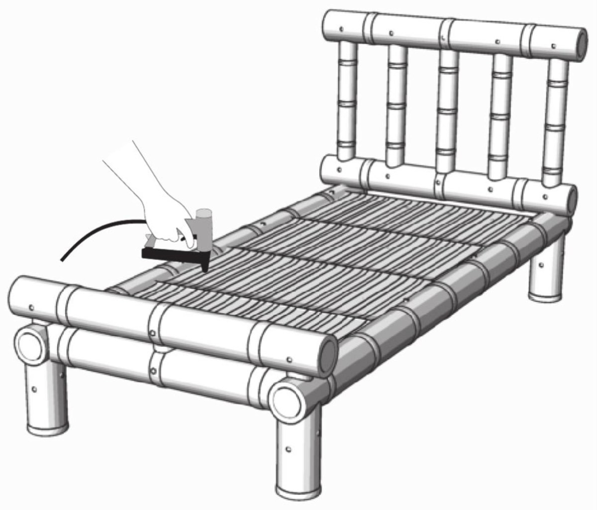 1200x1025 How To Make A Bamboo Bed Bamboo Bed Frame Viva Decor