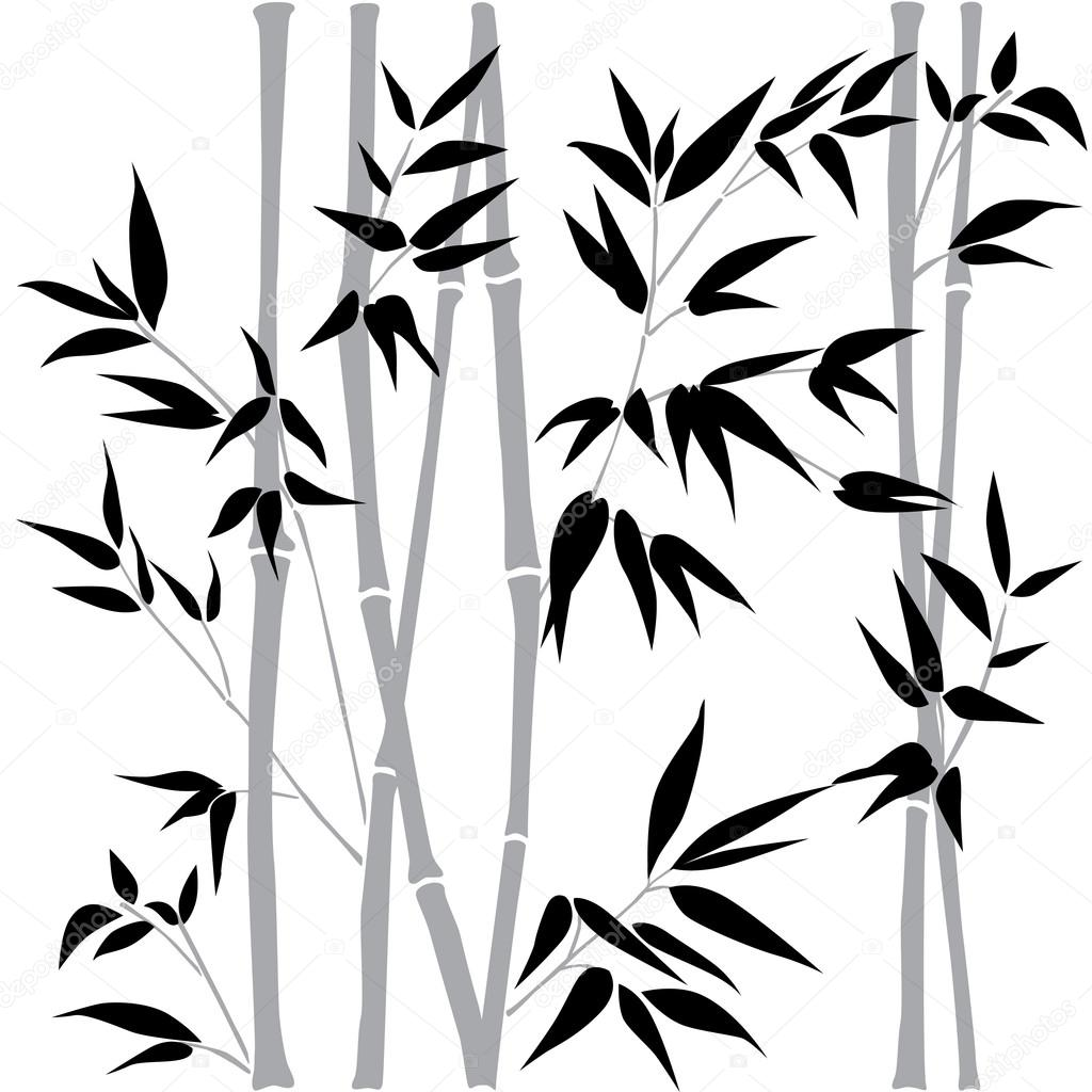 1024x1024 Decorative Bamboo Branches. Bamboo Forest Background. Vector