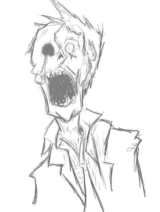 531x702 Super Quick Zombie Sketch By Jake Ross