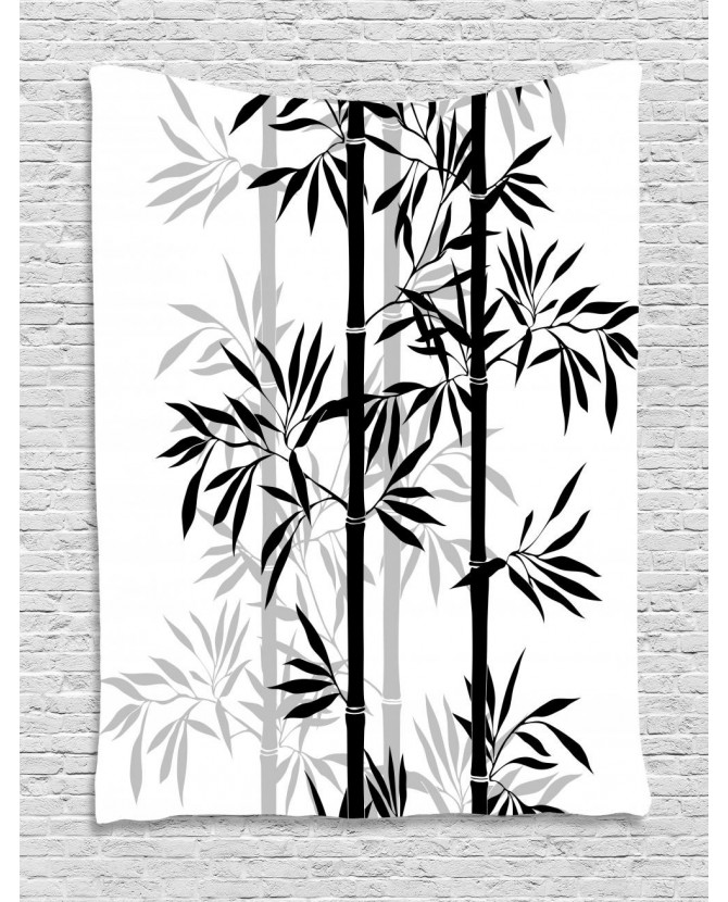 670x830 Tapestry Bamboo Tree Leaves Zen Printed Wall Hanging