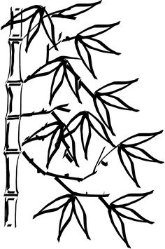 236x355 Design Of Chinese Bamboo Trees, Illustration Chinese New Year