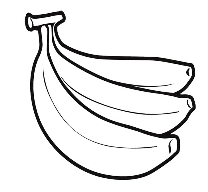 728x671 Breathtaking Banana Coloring Page 98 In Coloring Pages For Adults