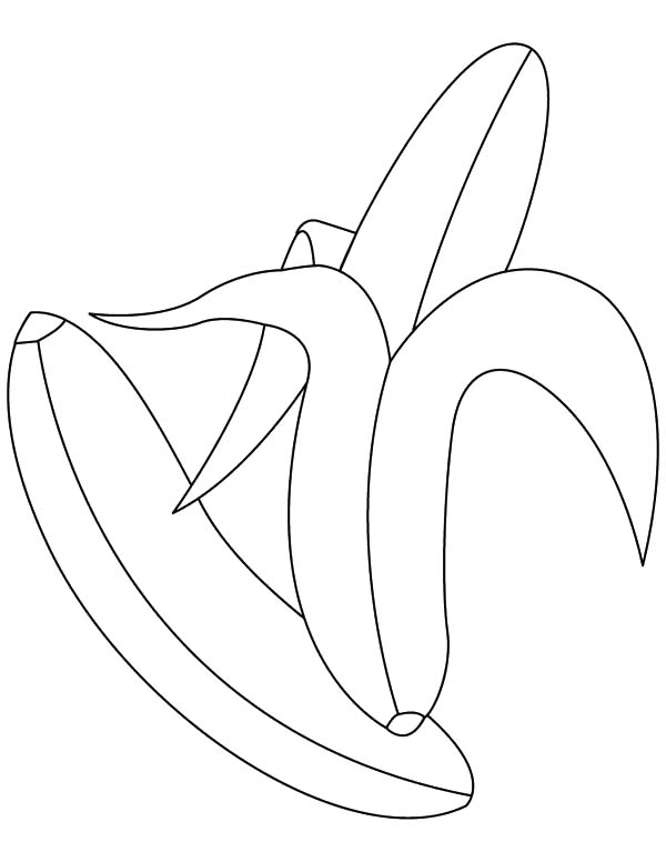600x776 Peeling Banana Bunch Coloring Pages