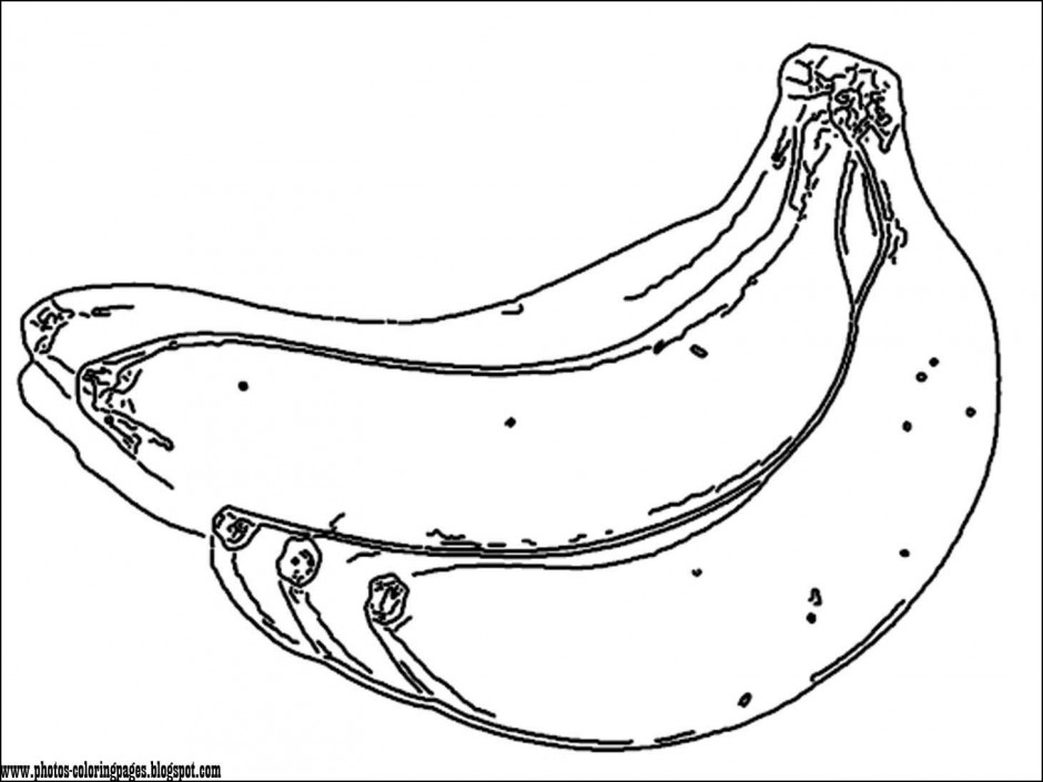 940x705 Banana Split Coloring Page Pages