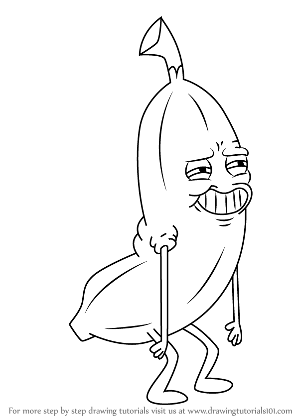 598x844 Learn How To Draw Banana Man From Uncle Grandpa (Uncle Grandpa