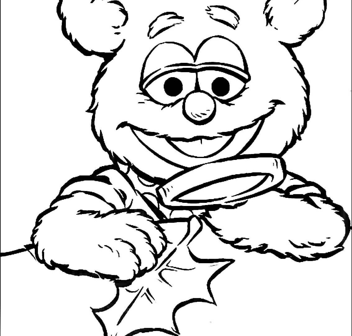 1133x1080 The Muppet Show Cartoons Fozzie Bear With Banana Coloring