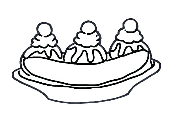 576x384 Free Printable Banana Coloring Pages Best Color Images On Drawings