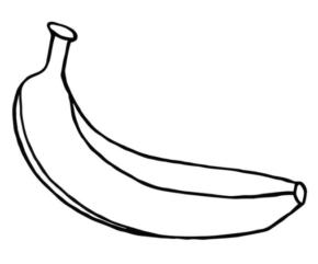 290x241 Fruit Bananas Coloring Page, Banana Coloring Page, Kiwi Slices