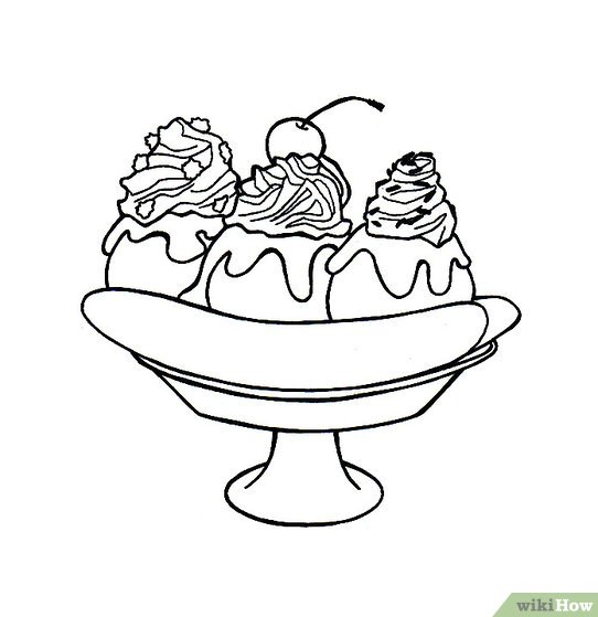 542x559 How To Draw A Banana Split 6 Steps (With Pictures)