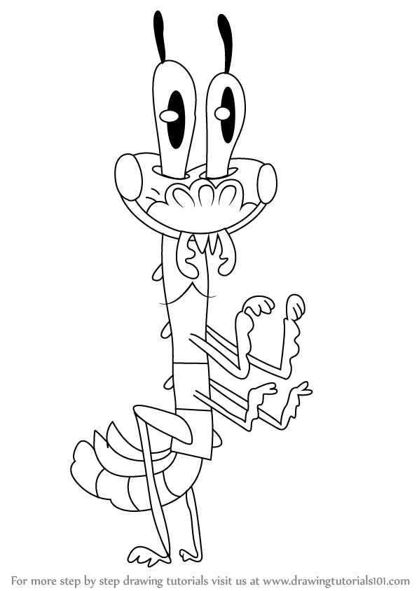 598x844 Learn How To Draw Cricket From Pig Goat Banana Cricket (Pig Goat