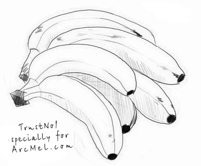 650x536 Banana Drawing Nice Coloring Pages For Kids
