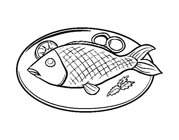 600x470 Fish Food Drawing Drawing Vegetables Food