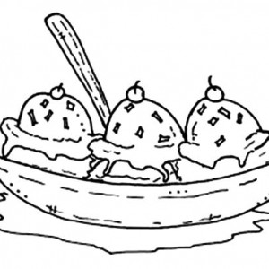 300x300 Draw The Banana Split Outline Coloring Pages Best Place To Color