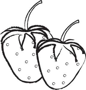287x300 Fruit Outline Clip Art