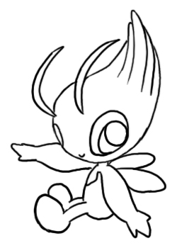 250x350 How To Draw Celebi 9 Steps (With Pictures)