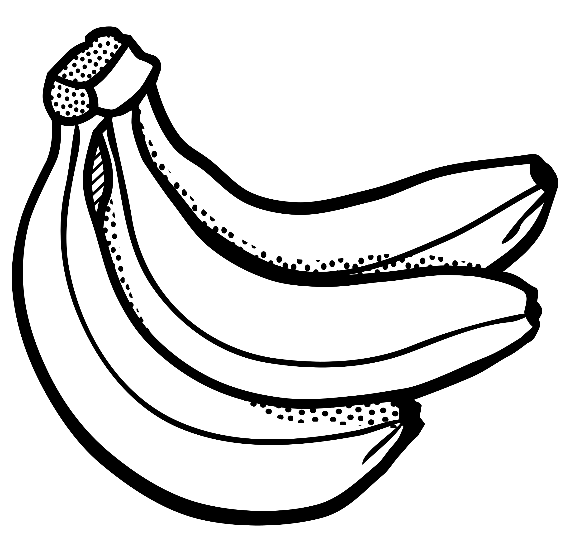 2400x2323 Pictures Banana Drawing Outline,