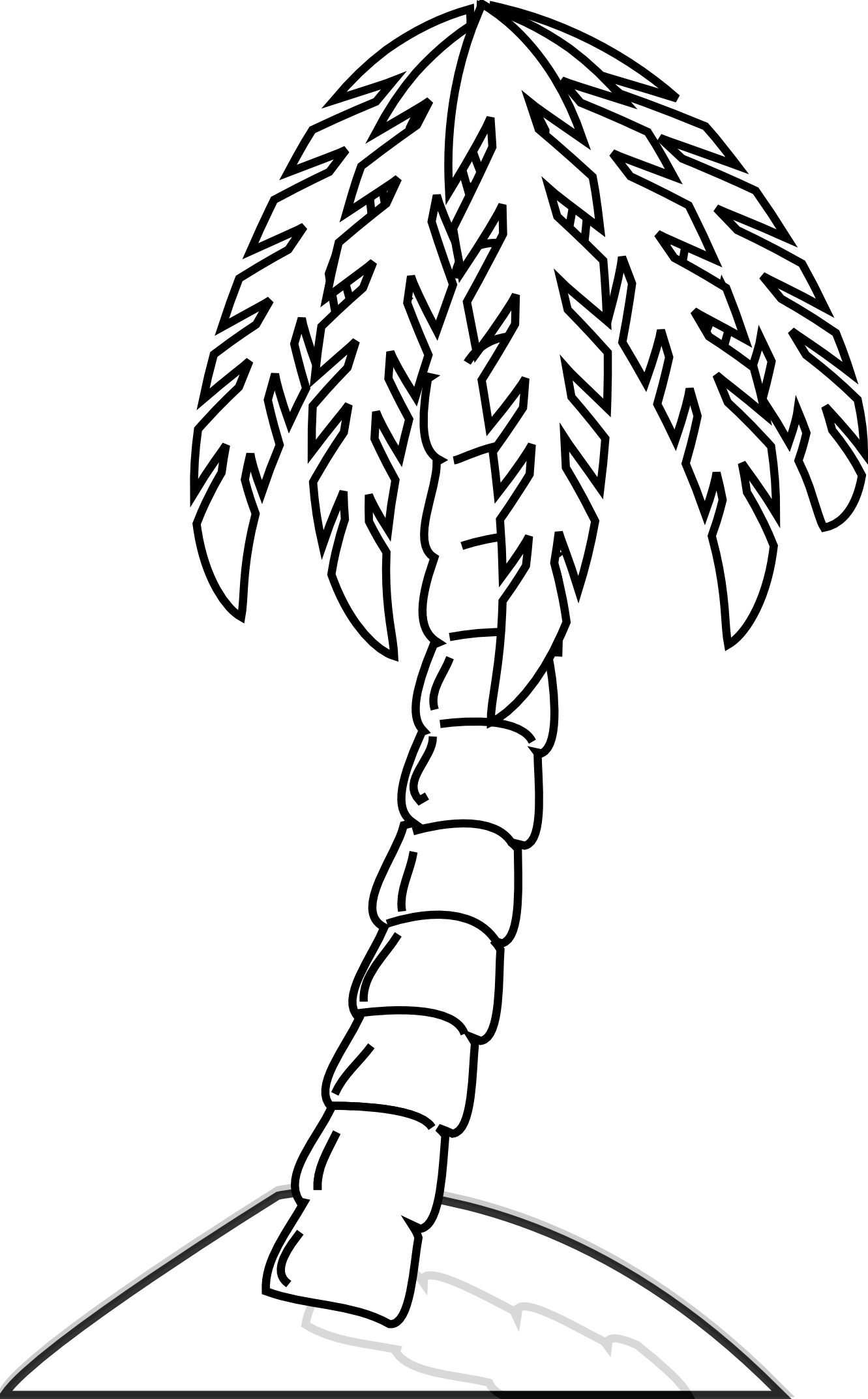1331x2144 Simple Black And White Tree Drawing Clipart Panda