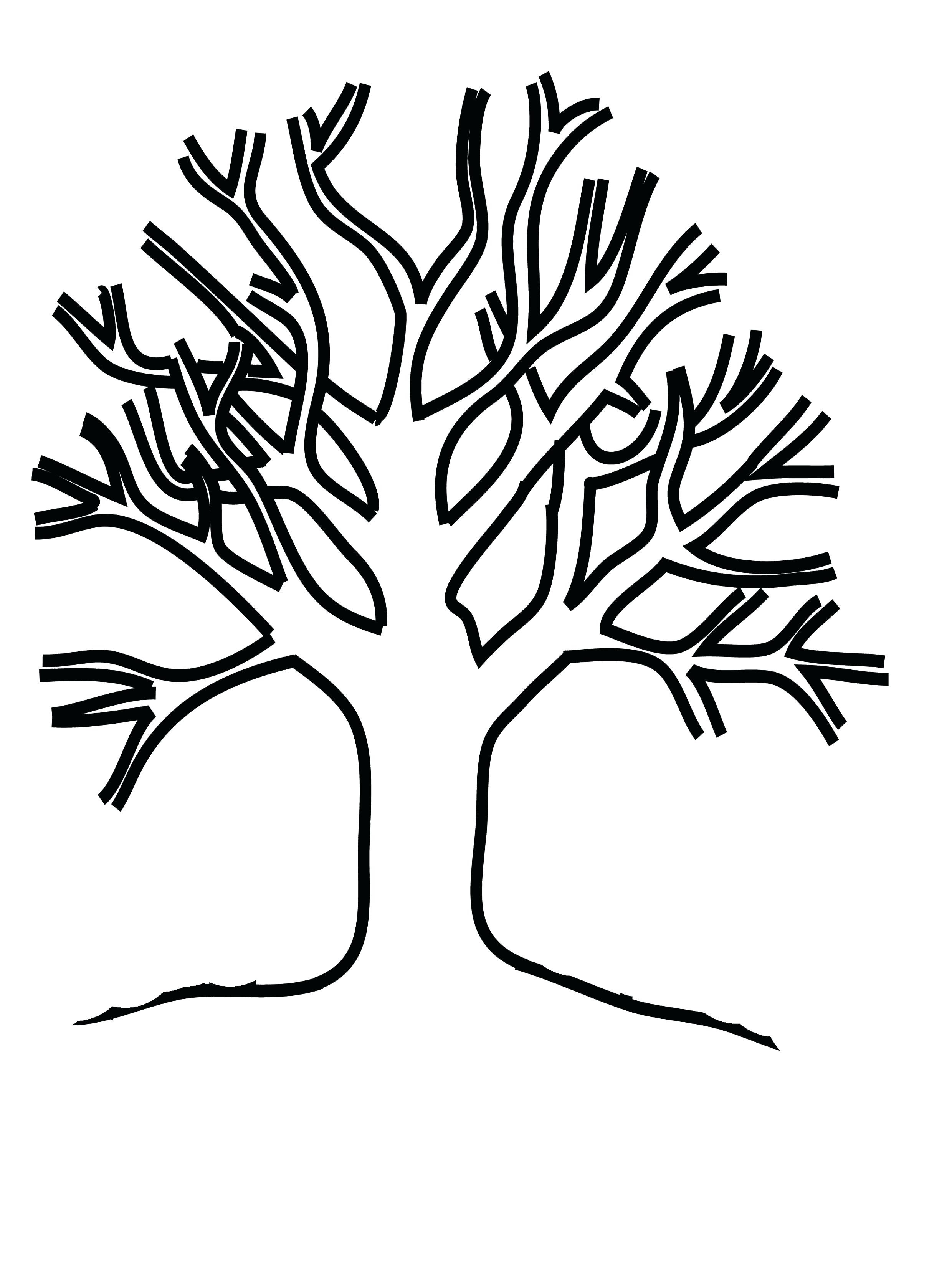 2480x3311 Tree Without Leaves Colouring Pages Free Draw To Color