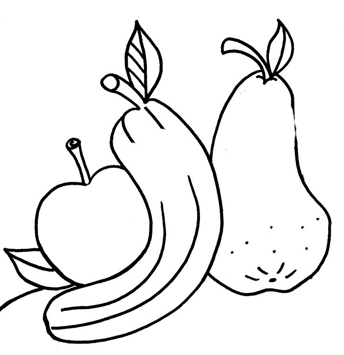 700x722 Apples And Bananas Coloring Pages Download Print For Free