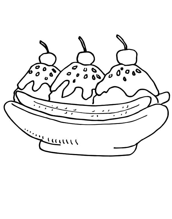 600x765 Banana Split With Chocolate Sprinkles Coloring Pages Best Place