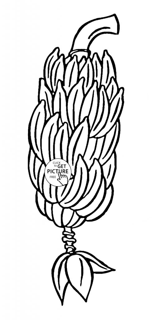 492x1024 Banana Split Coloring Page Printable Archives