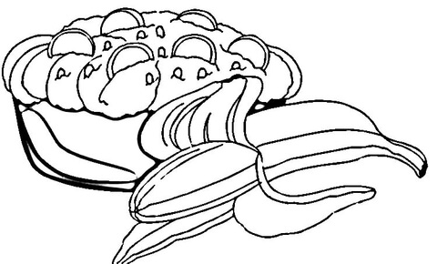 480x290 Banana Split Coloring Page Free Printable Coloring Pages