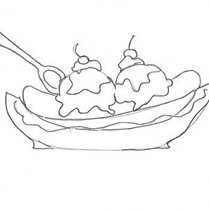 300x300 Banana Split For Dessert Coloring Pages Best Place To Color