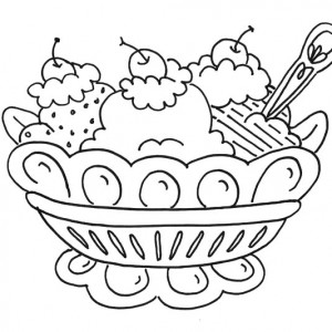 300x300 Banana Split For Dessert Coloring Pages Banana Split For Dessert