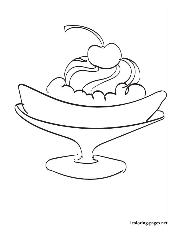 560x750 Banana Split Coloring Page Coloring Pages