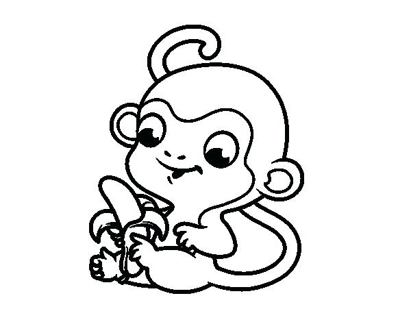 600x470 Here Are Banana Coloring Page Pictures Monkey With Banana Coloring