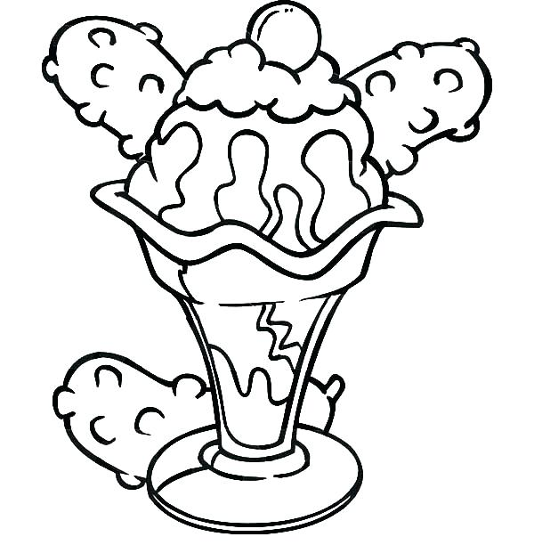 600x612 Stunning Coloring Pages Ice Cream Print Banana Split And Bulk