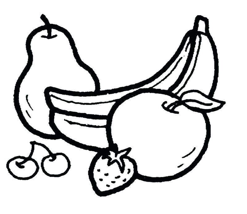 800x693 Banana Coloring Page Banana Coloring Page Feel Fresh And Healthy