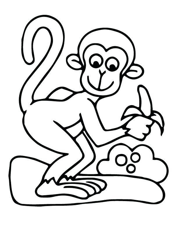 595x842 Banana Coloring Sheet Banana Coloring Page Free Pages Print Monkey