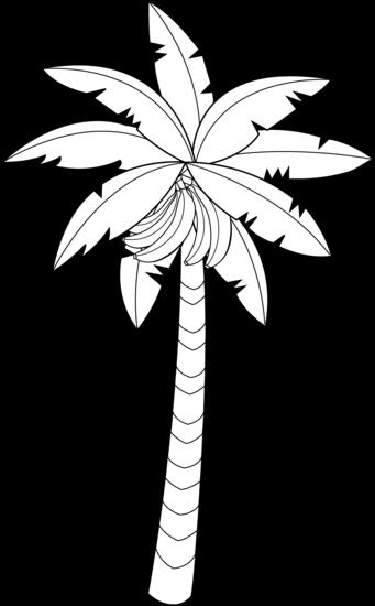 341x550 Banana Tree Line Art