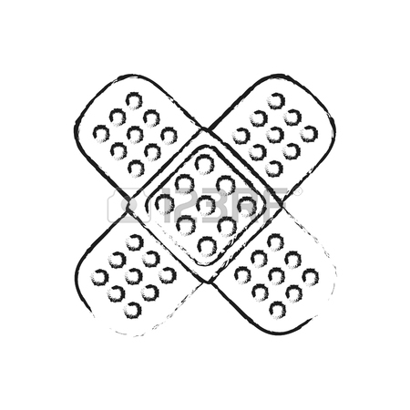 450x450 Blurred Silhouette Image Cartoon Band Aid Element Health In Cross