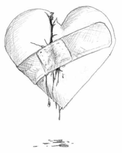 400x500 Heart Series Bandaid By Chris Art Drawings
