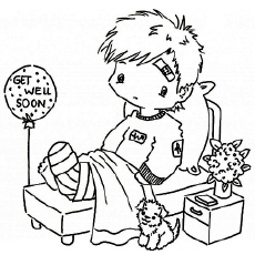 230x230 Little Boy With Broken Leg Coloring Pages Get Well Cards