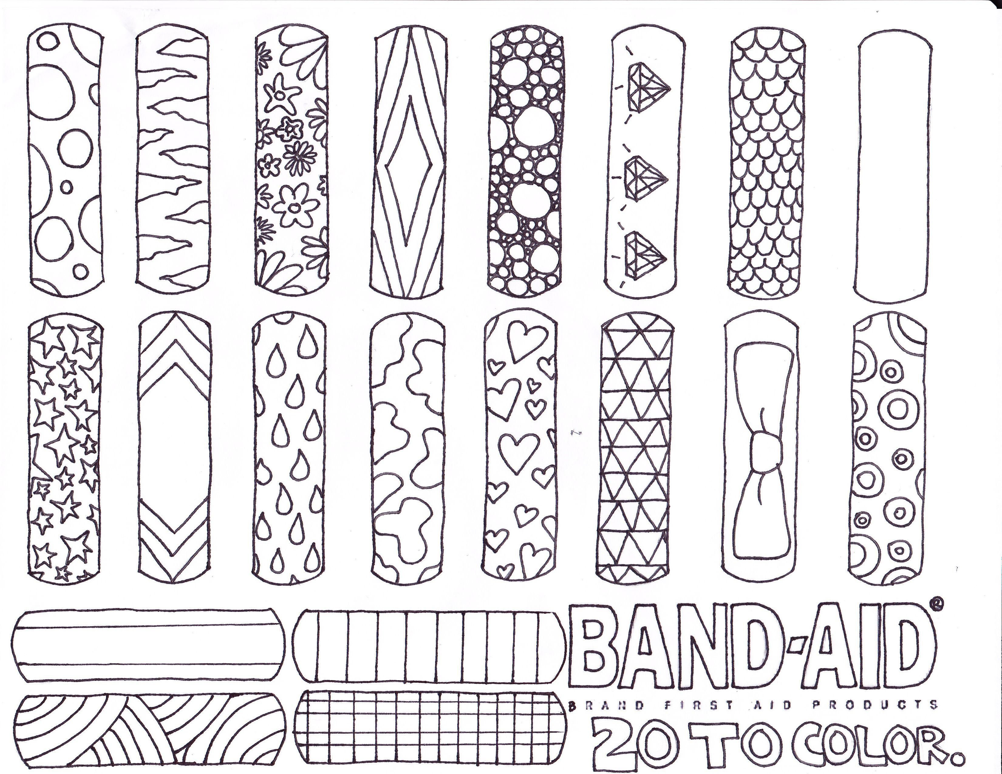 3300x2550 Band Aid Coloring Page Coloring Page For Kids