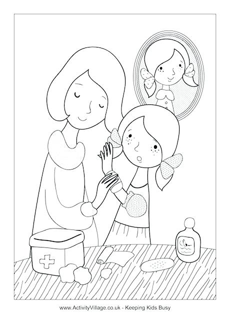 460x650 Band Aid Coloring Page