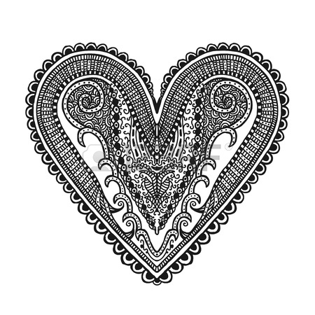 450x450 Hand Drawn Heart, Illustration Design Element Royalty Free